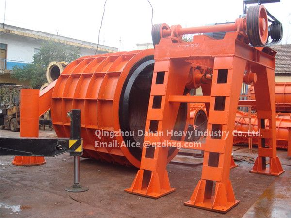 Reinforced Concrete pipe hanging roller machine for water